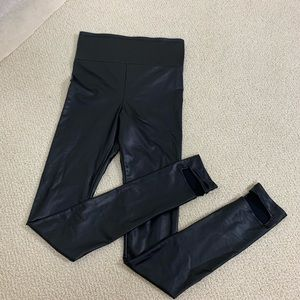 Pleather leggings with heel strap size Small